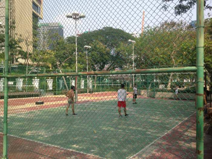 Volleyball and takraw courts